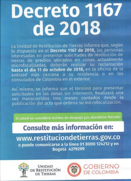 Decreto 1167 De 2018